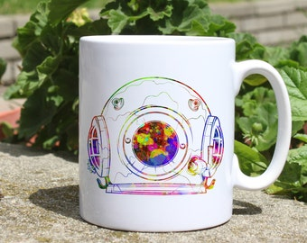 Cosmos mug - Art mug - Colorful printed mug - Tee mug - Coffee Mug - Gift Idea