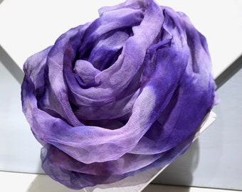 Nuno Felting Scarf Kit, felted scarf kit, Purple, lavender, pink, red, DIY Gift under 30, Art Yarn Spinning kit, Freeform Weaving Kit