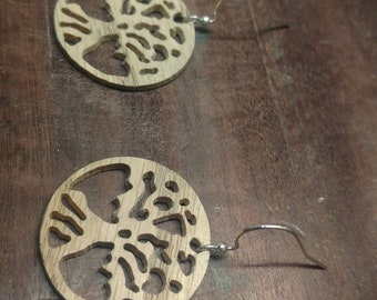 Tree of Life Earrings (Wood)