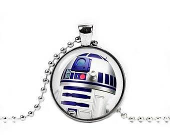 R2D2 Necklace Star wars Pendant R2D2 Pendant Fandom Jewelry Geeky Fangirl Fanboy