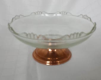Copper and Glass Compote