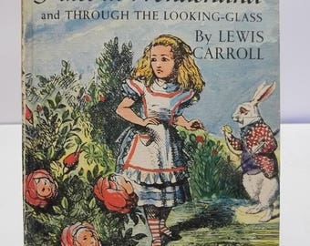 Vintage 1963 Companion Library Alice in Wonderland and Five Little Peppers 2 Books in 1