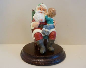 "Hallmark Keepsake Ornament, Limited Edition, ""Secrets for Santa"" w / Solid Wood Display"