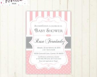 Awesome Spanish Baby Shower Invitation Girl Baby Shower In Spanish Invite Invitacion  Imprimible En Español Invitacion Baby