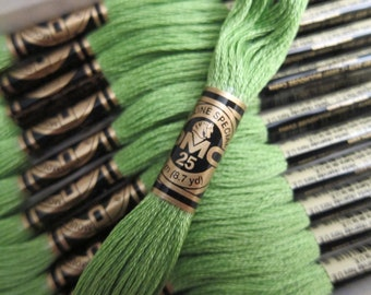 704, Bright Chartreuse, DMC Cotton Embroidery Floss - 8m Skeins - Available in Full (12-skein) Boxes - Get Up To 50% OFF, see Description