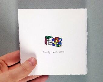 Rubix Cube (Original Minature Painting)