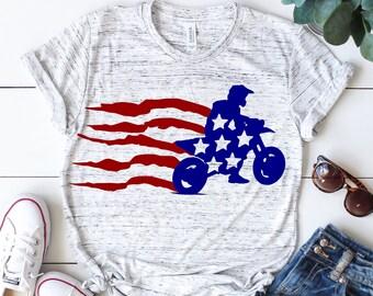 Dirt bike svg, American flag svg, Usa flag svg, Motocross svg, 4th of july svg, Motorcycle svg, SVG, DXF, eps, png, pdf, Distressed svg,