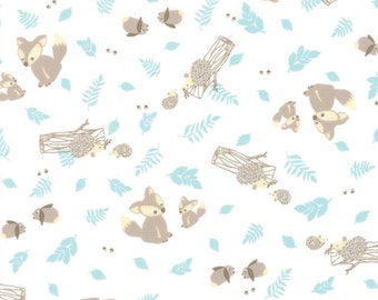 Moda Lullaby Woodland Critters Cloud 13151 11 -  Kate and Birdie Paper Co - 1 yard