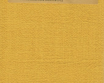 Japanese Asian Quilting Sewing Fabric - Azumino-Momen - # 079 Gold Mustard