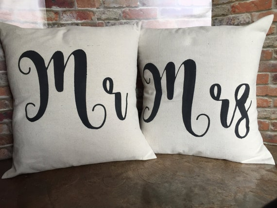 Mr And Mrs Pillow Covers Mr Amp Mrs Canvas Pillow Covers