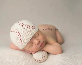 Tiny Baseball - Made To Order, Newborn Size