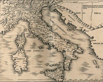 Poster, Many Sizes Available; Map Of Italy 1513 P1