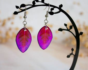 Resin Leaf - Leaf Earring - Leaves Earrings - Print Jewelry - For Nature Lovers - Nature Inspired
