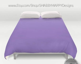 Solid Color Lavendar /Choice of Duvet Cover or Comforter/ Bedding Minimalist Modern Basic Art /Sizes Twin, XL Twin, Full, Queen, King