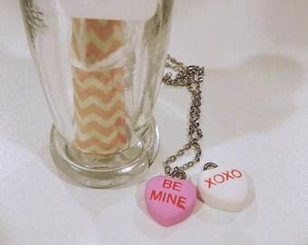 Conversation Heart Necklace