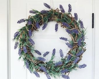 Summer Wreath - Lavender Wreath - Front Door Wreath - Door Wreath - Summer Wreath For Front Door - Large Summer Wreath