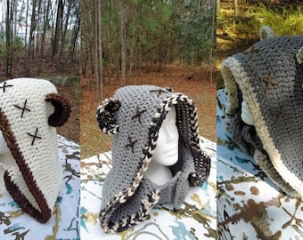 Ewok costume,Bear Hooded cowl ,Hooded neckwarmer,Teen,Adult, Handmade crochet
