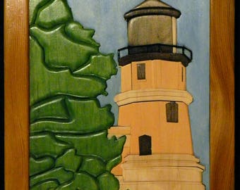 Splitrock Lighthouse Intarsia