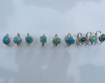 Turquoise Bordered Stack Rings