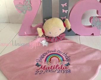 Baby Comforter / Personalised Baby Blanket / Security Blanket /  Newborn Gift / Baby Blanket / Personalized Blanket / Baby Snuggle Blanket