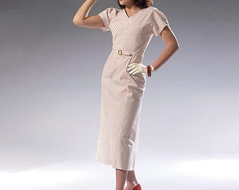 McCall's Sewing Pattern M7153 Misses' V-Neck Dress and Belt
