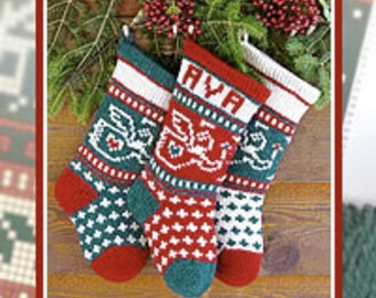 Baby's First Christmas Stocking Digital Knitting Pattern Instant Download