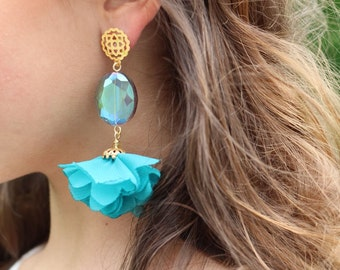 Organza Flower Earrings