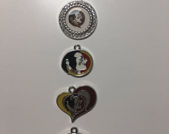 Florida State Seminoles Charms (5) Logo DYI Jewelry Bracelets Necklaces