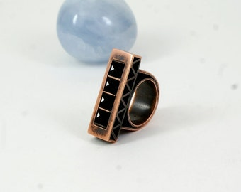 Copper ring  Unique ring Bohemian ring Copper jewelry  Gihts for her Boho copper ring Copper ring for arthritis