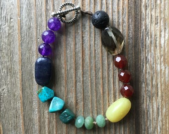 Chakra & Lava Stone Diffuser Bracelet