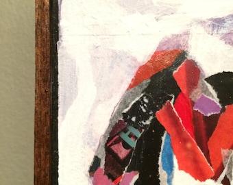 Abstract art, Abstract painting, mini painting, mixed media wall art