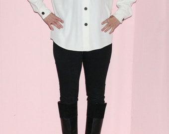 Colour block white shirt