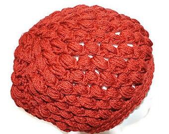 Crochet Hat Women, Fall Fashion Hat, Winter Fashion Hat, Teen Slouch Cap, Mens Crochet Hat, Orange Hat, Mens Slouch Hat, Chunky Hat