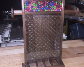 Candy plinko made of black walnut