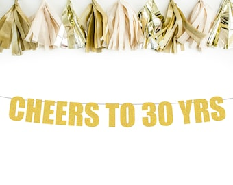 CHEERS TO 30 YRS banner |30th birthday banner| 30th birthday decorations | 30th birthday decorations | birthday decorations | birthday party