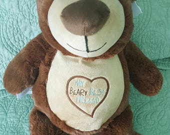 Monogrammed Cubbie - Teddy Bear