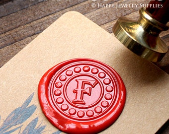 1pcs Custom Wax Seal Stamp Initial Alphabet Sealing Wax Stamp,Personalized Monogram Calligraphy Wedding Invitation Letter Metal Stamp(WS203)