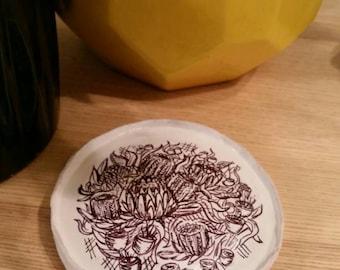 Botanical Clay Trinket Dish