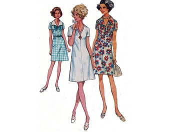 1970s Simplicity 8751 Woman Shift Dress Size 18.5 ||Bust 41in /104cm ||Vintage Sewing Pattern