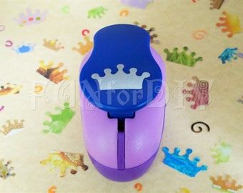 14x24mm Large size lever type paper punch -- crown