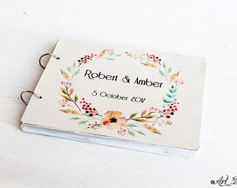 Wedding Guestbook, Guest Book, Personalized Wedding Gift, Custom Guest Book, Shabby Guestbook, Wedding Guest Book, Guestbook Wedding,