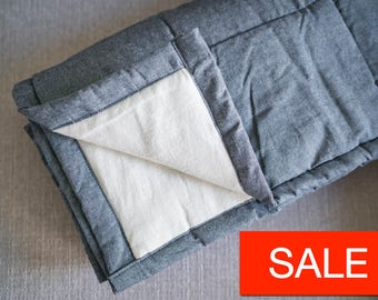 Yorkville Weighted Blanket for Adults  -  Cool 100% Cotton Anxiety Weighted Blanket for Hot Weather