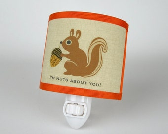 Squirrel Nightlight- orange
