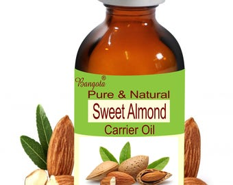 Sweet Almond Oil -  Pure & Natural  Carrier Oil