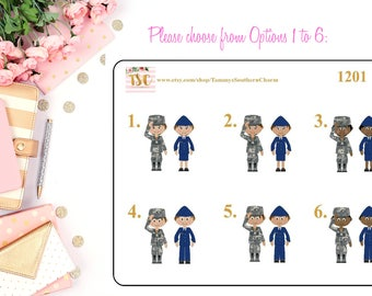 AIR FORCE - MILITARY Planner Stickers, stickers