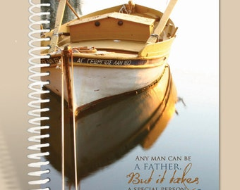 Any Man Can Be a Father Journal / Personalized Gift / Personalized Prayer Journal