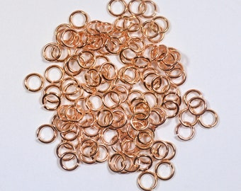 5mm Rose Gold Finish Jump Rings - Choose Your Quantity