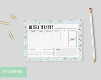 Weekly Planner Cats (Limited Edition) Print A4 Interactive and Printable Files Included INSTANT DOWNLOAD