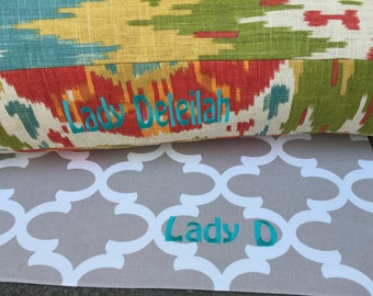 Scarlett Dog Bed * Trendy Ikat * Small * Modern Ikat * Personalize with a Name or a Monogram * Custom Pillow Cover * TSD