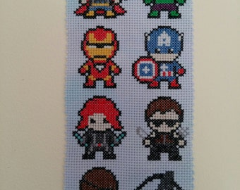 Little Avengers *7 character* superhero inspired cross stitch pattern